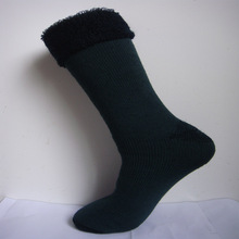 2 pairs/lot New Winter Thermal Cashmere Mens Warm Wool Socks Thick Knitted Merino Crew Cushion S0010