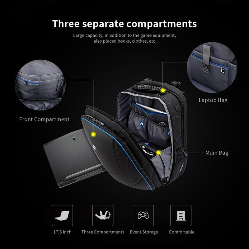 BESTLIFE الرجال الفاخرة 3D على ظهره 17.3 بوصة المحمولة مكتب حقيبة لابتوب ل من Alienware ل فأل حقيبة السفر Mochilas-في حقائب الظهر من حقائب وأمتعة على  مجموعة 3