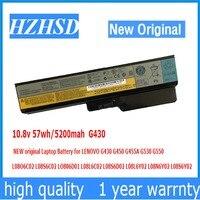 10.8v 57wh/5200mah G430 NEW original Laptop Battery for LENOVO G430 G450 G455A G530 G550 L08O6C02 L08S6C02 LO806D01 L08L6C02