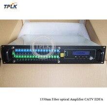 Высокое качество 2U CATV EDFA 16 портов оптический усилитель 16 портов 18/20/21/22dbm EDFA FTTH оптический высокой мощности 1550nm EDFA