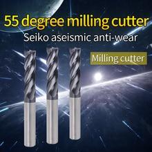 1PCS HRC55 4Flute router bit Metal Cutter Milling Tools Alloy Carbide Tungsten Steel Milling Cutter End Mill 4mm 6mm 8mm 12mm 1pcs hrc 55 4flute 8mm x 60mm coat carbide end millng cnc milling