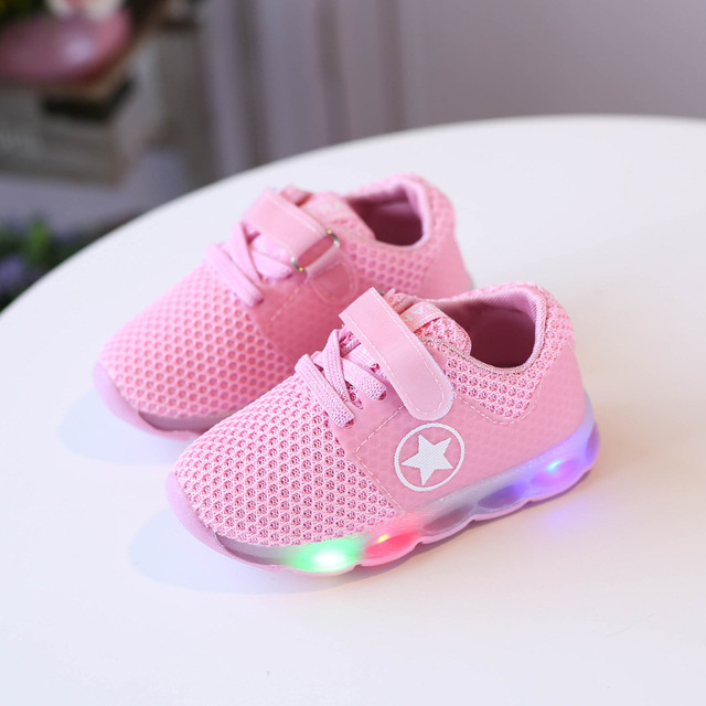 5e63893640dc 2018 1 to 5 years old led lights kids sneakers baby boys and girls glowing  shoes breathable children sports shoes casual shoes