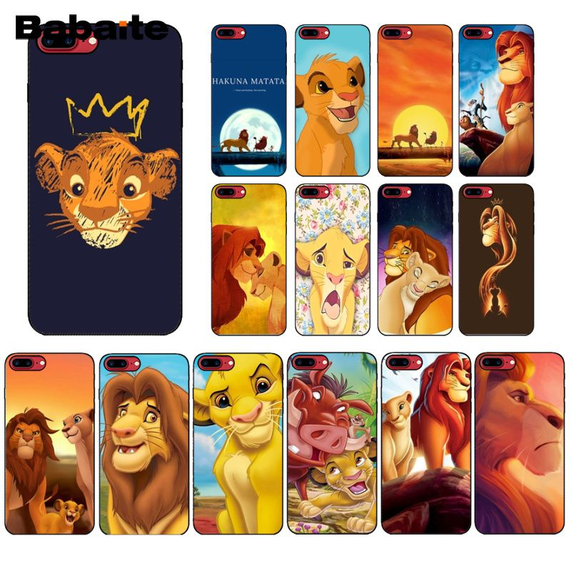Babaite Cartoon Movie <font><b>Lion</b></font> <font><b>King</b></font> Soft Silicone black Phone <font><b>Case</b></font> for Apple <font><b>iPhone</b></font> 8 7 <font><b>6</b></font> 6S Plus X XS MAX 5 5S SE XR Cover image