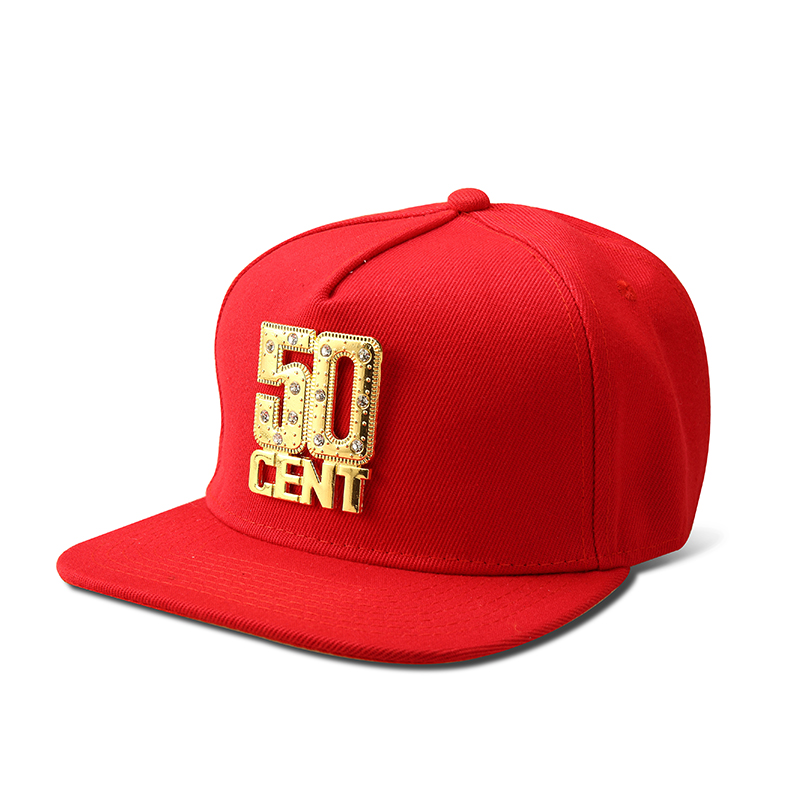 NYUK Snapback Hats Wholesale Bling Iced Out Gold 50 CENT   Baseball     Cap   Hat Hip Hop Men Women Casual Straight Flap Brim Bone   Caps