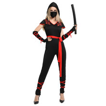 Adult Women Deadly Ninja Warrior Costume Fantasia Halloween Carnival Mardi Gras Party Dress