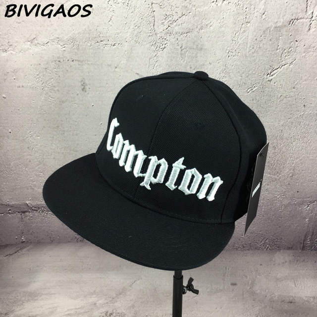 d4e5d577c55 New 2018 Fashion Men Cap Black Compton Letters Embroidery Snapback Hats  Hiphop Hat Baseball Cap Hip