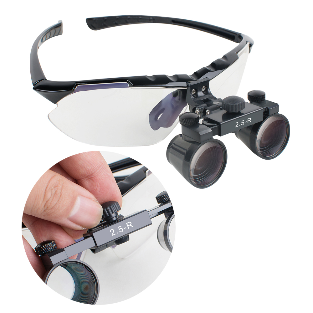 New Style High-end Luxury New Dentist Black Dental Surgical Medical Binocular Loupes 2.5X Optical Glass Loupe + EVA Carry Case new opto optical endstop end stop switch cnc optical endstop using tcst2103 photo interrupter