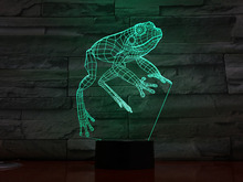 Animal Frog LED Night Light Lampara Home Decor Atmosphere Decorative Lamp Child Kids Baby Gift RBG Changing 3D Desk Bedside