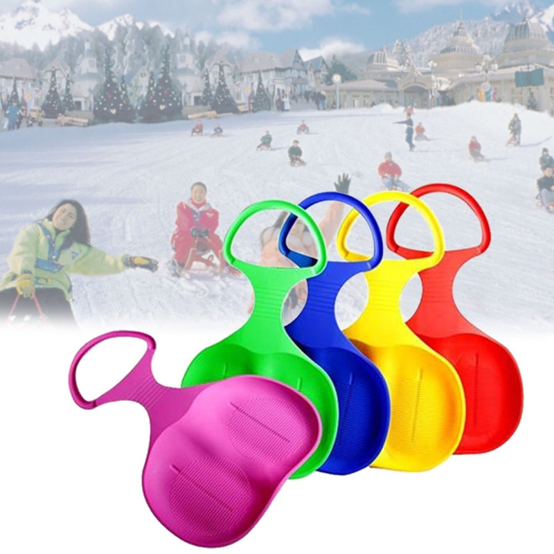 Outdoor Sports Skiing Pad Sled Snowboard For Kids Adult Children Winter Thicken Plastic Sand Grass Sledge Snow Luge