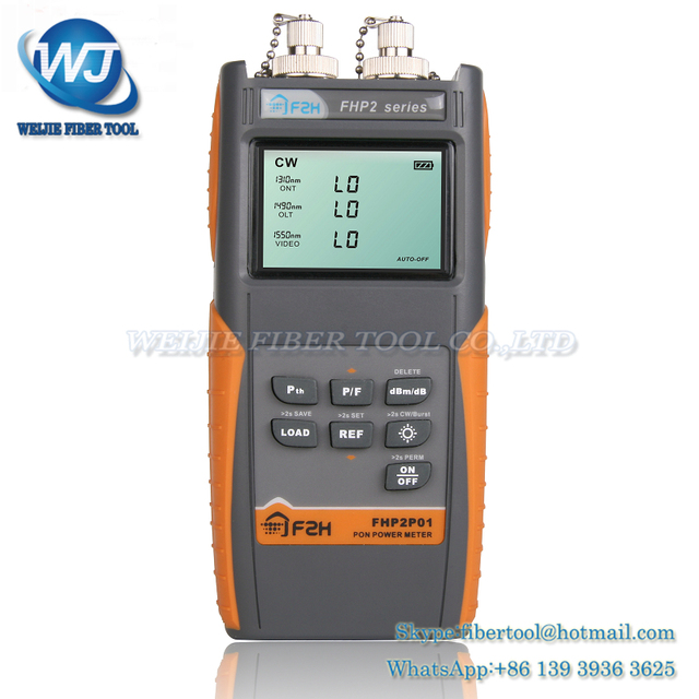 Multi Função FHP2 Grandway Medidor de Energia de fibra Óptica com SC/Conector FC Fonte Estável de Energia Versátil Pon medidor de Potência Óptica metro