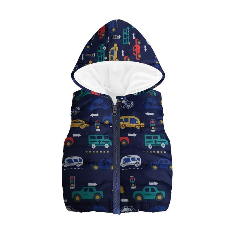 Fleece Children Waistcoat Hooded Baby Boys Coat Fashion Hoodies Boy Vest Tank Tops Kid Outfit Clothing Outwear Sleeveless Jacket 6