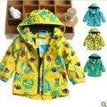 Roupas para meninas Topolino inverno à prova de vento outerwear criança cardigan outerwear manga 7M-2 anos