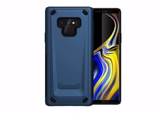 Luxury 2 in 1 Shell Mechanic Armor Case For Samsung Galaxy Note 9 Cover Antishock Hybrid Plastic + Silicone Hard Back Phone Case kinston rhombus pattern protective plastic hard back case for samsung galaxy note 2 n7100 white