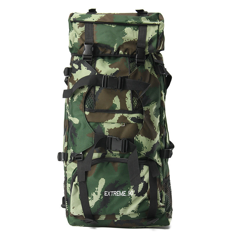 90L Long Haul Camping Bag Waterproof Travel Military Army Bags Outdoor Sport Molle Tactical Rucksacks Camouflage Hiking Backpack outdoor backpack tactical military backpack camping hiking camouflage sport bag travel bags 20 35l mochilas