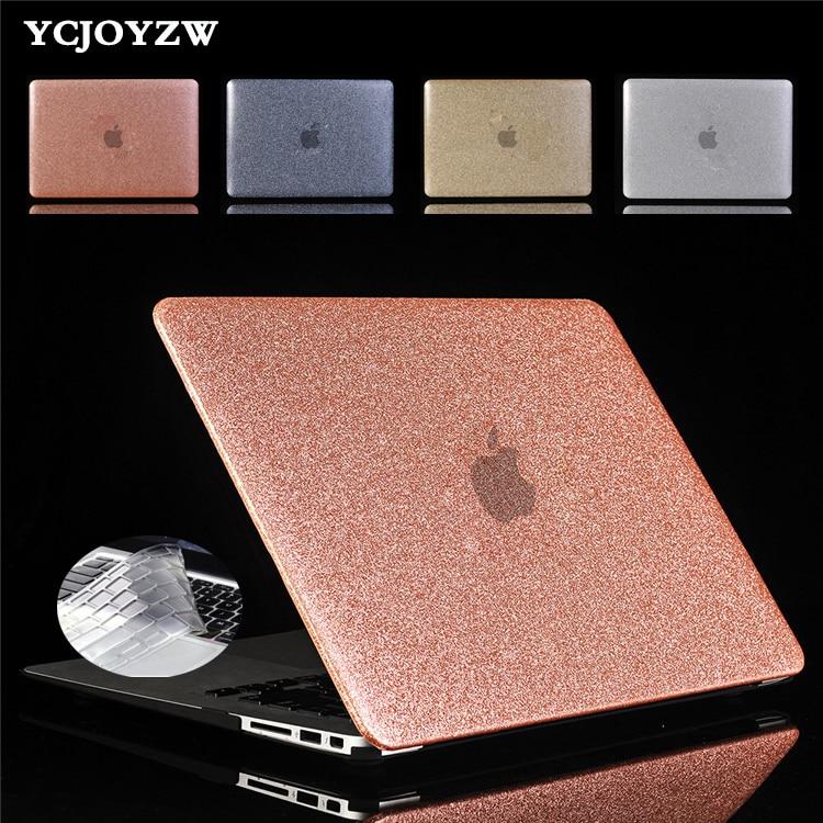 YCJOYZW brillo portátil caso para MacBook AIR 13 Pro Retina 11,6 12 13,3 15,4 para MAC libro aire 13 Pro 13 de 15 pulgadas con Touch Bar