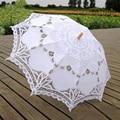2016 Lace Umbrella Parasol White Cotton New Wedding Umbrella For Wedding Party Cheap High Quality ombrelle dentelle