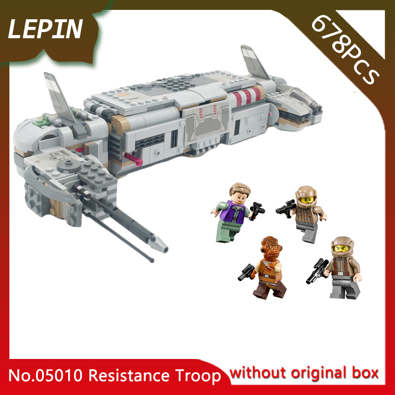 Doinbby Store 05010 678Pcs Star Space Series Resistance Troop Transporter Model Building Set Blocks Toys For Children 75140