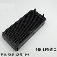 18 Tube CPU Heat Sink Exchanger Aluminum Computer Radiator Water Cooler