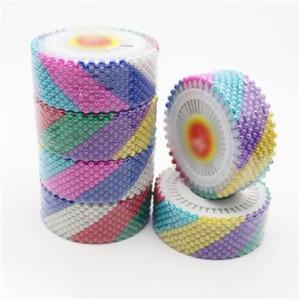 Chinchetas de colores con forma de perla para ropa, accesorio de costura de retazos, accesorio para prendas de vestir, hecho a mano, 120 Uds./3 rollos