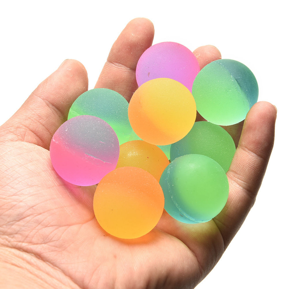 32MM 10Pcs/lot Luminous Moonlight High Bounce Toy Balls Kids Gift Party Favor Decoration Kids Glow In The Dark Bouncing Ball