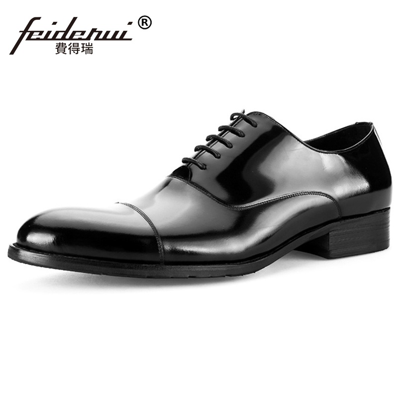 2017 New Arrival Formal Derby Man Dress Shoes Male Patent Leather Handmade Oxfords Luxury Brand Men's Bridal Wedding Flats MG81  ruimosi new arrival formal man bridal dress flats shoes genuine leather male oxfords brand round toe derby men s footwear vk94