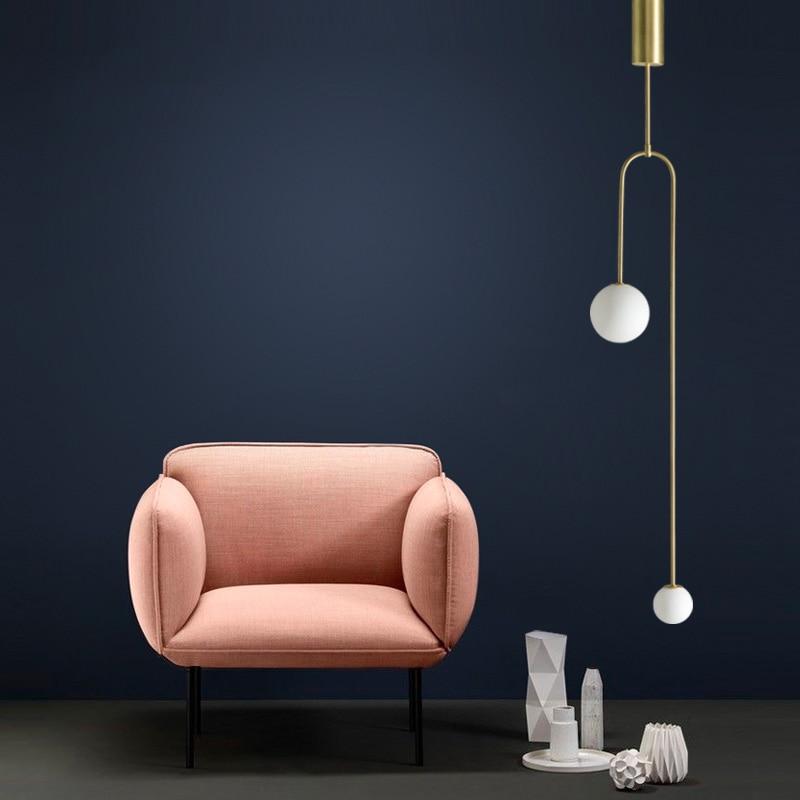 Nordic Modern Designer Living Room Glass Hanging Lamps Fashion Simple Bedroom Bedside G9 LED Chandelier Lighting