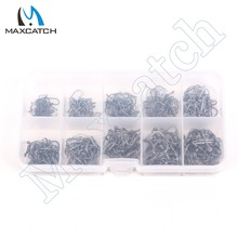 Maximumcatch 450Pcs 10 Sizes Carbon Steel Fish Hooks Carp Fishing Jig Head Set Fishing Tackle Box Fishing Hook Pesca