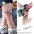 Fashion Temporary Tattoo Stickers Beauty Body Art Rose on Deer Colorful Fake Flash Taty Tattoo Water Transfer tatuaje