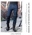 Nueva uglybros motocicleta pantalones vaqueros jeans de moda motocicletas incisión para pantalones de bicicleta de carretera