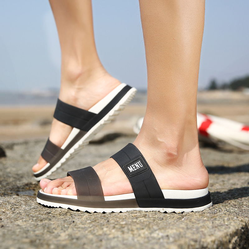 LAISUMK Summer Beach Men Slippers Casual Shoes Double Buckle Man Slip on Flip Flops Flats Camouflage Flip Flop Indoor & Outdoor 93