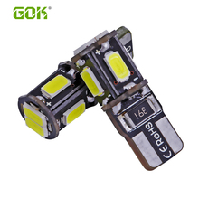 Super Bright!! 100X T10 W5W T10 194 168 5630 6 SMD Canbus NO ERROR 12V Car Auto Bulbs Indicator Light Parking Lamps White