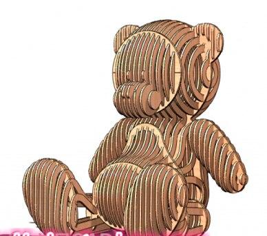 Teddy bär DWG CAD zeichnung design datei für cnc laser schneiden