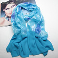 Fashion Brand Polyester Floral Pattern Scarves