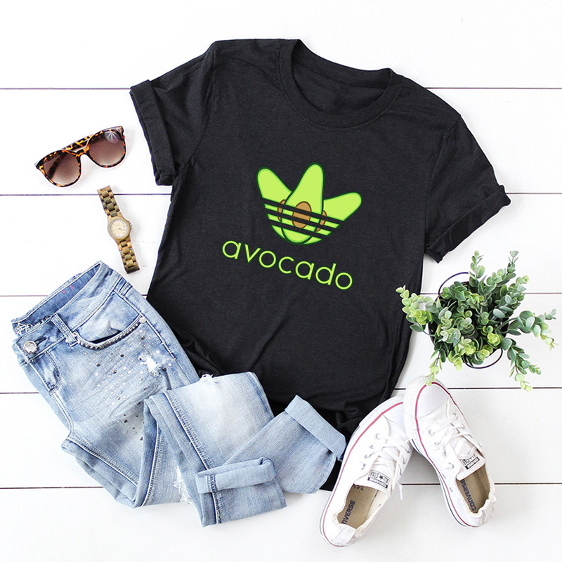 Funny Avocado Women T Shirts 2019 Vogue Summer Female Short Sleeve Harajuku Tee Shirt Femme Graphic Tees New Cute Poleras Mujer