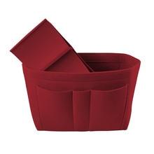 Фетр Органайзер сумка для хранения домашний шкаф Органайзер складной офисный стол Шкаф Органайзер ювелирные изделия Косметический макияж сумка