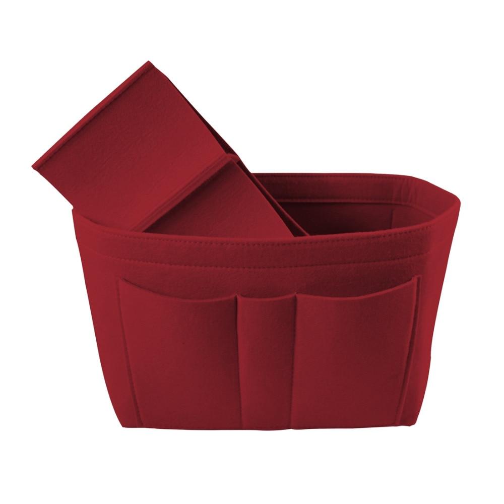 Hot Closet Organizer Cosmetic Storage Bag Felt Organizer Bag Home Folding Wardrobe Organizer Office Desk Jewelry Makeup Bag