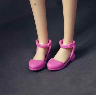 Para zapatos de Barbie planas coloridas sandalias de tacón alto para ropa de muñeca Barbie accesorios de bricolaje juguetes de regalo para niños