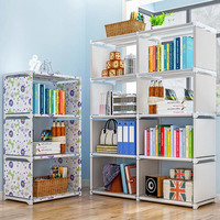 Simple DIY Combination Bookshelf student Study small Bookcase Living room Floor standing Storage rack Home Furniture