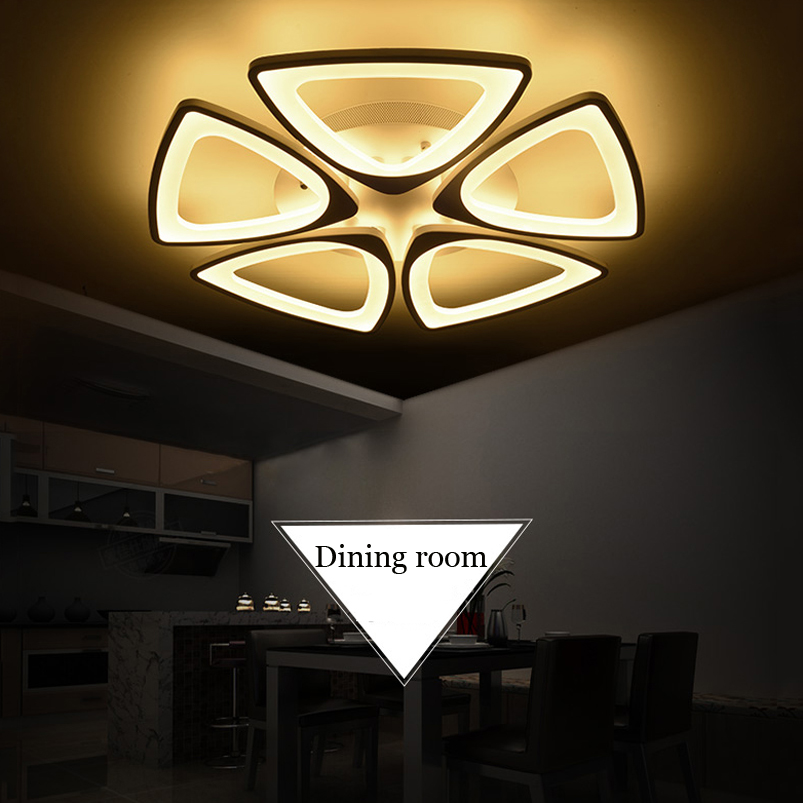 New Acrylic led ceiling lights for living room dining room Bedroom foyer hall lamp led home lighting Lamp 60w led ceiling lamp led acrylic dinosaur eggs round droplight fashionable sitting room dining room lamp new bedroom lamp