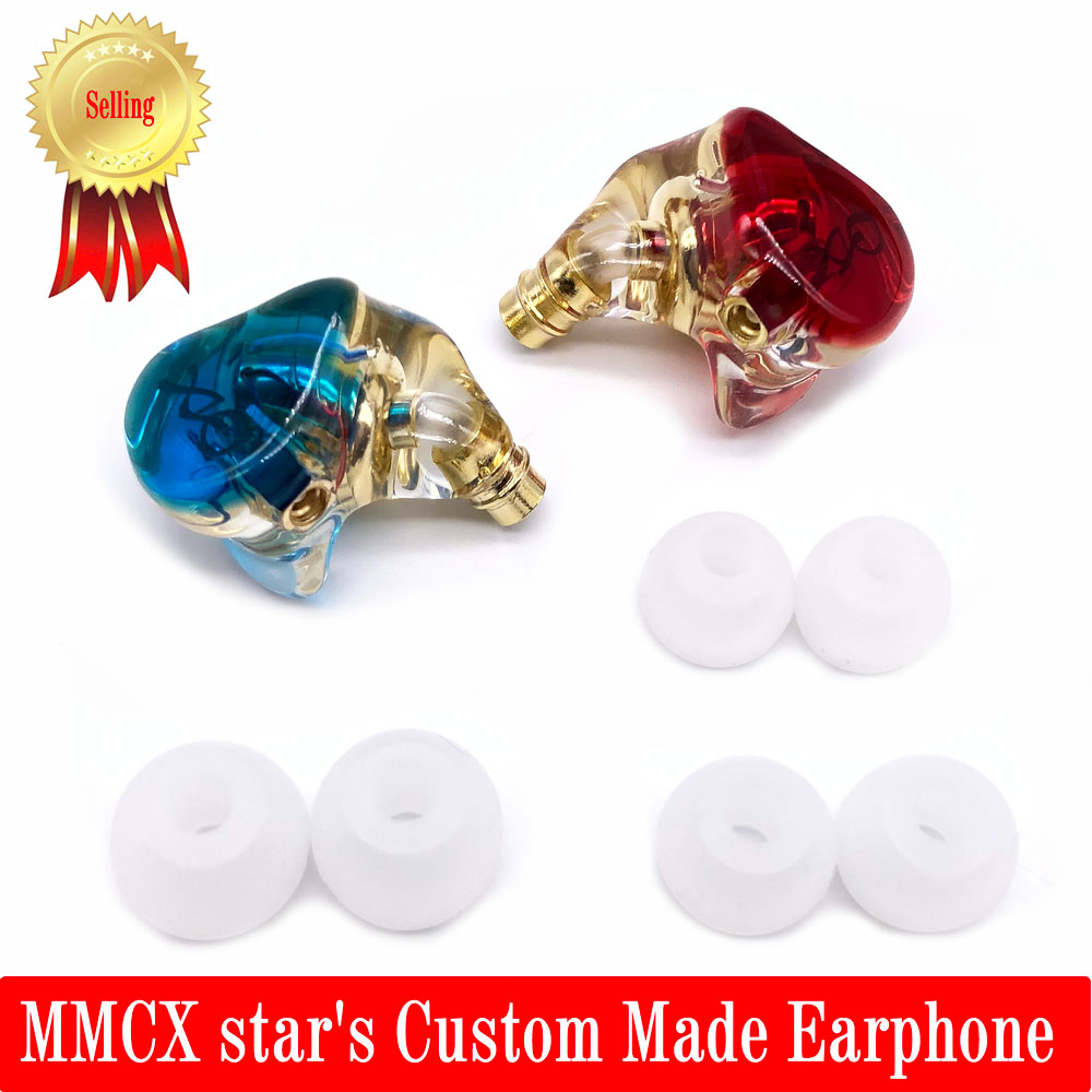 Custom Made MMCX Noise Canceling star's Earphone Headphone Replaceable Headset MMCX Cable For Shure SE215 SE535 SE846 UE900