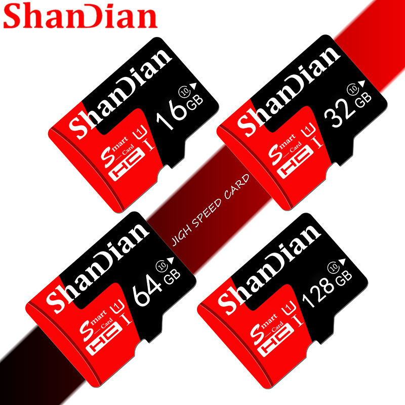 SHANDIAN Real Capacity Memory Card 8GB/16GB/32GB/64GB Class 10 Micro SD Card