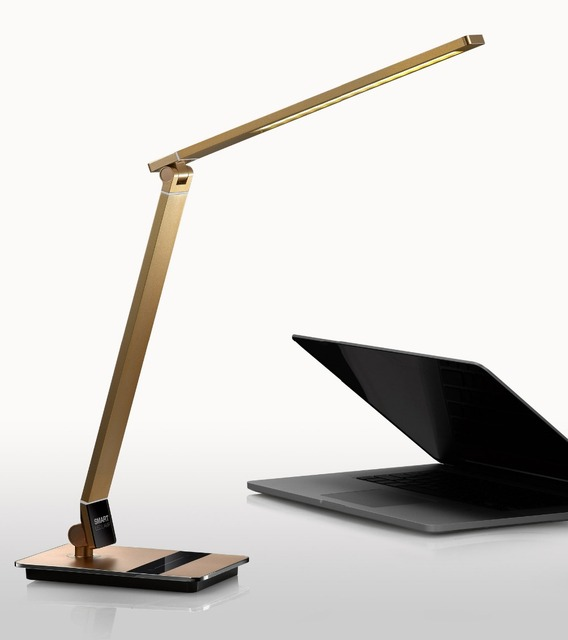 High grade LED folding  students learn reading eye protection touch control desk lamp color random send