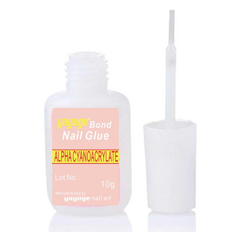 Yayoge 10 ml 1 piezas uñas gel esmalte arte uñas pegamento resina Bonder Bond para uñas postizas gel de decoración barniz acrílico manicura