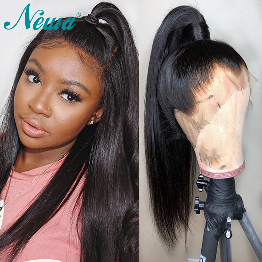Newa Hair 13x6 Lace Front Human Hair Wigs Pre Plucked Hairline Brazilian Straight 370 Lace Frontal
