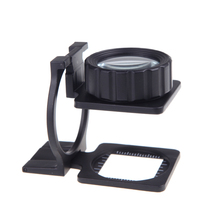 20X Foldable Magnifier Stand font b Measure b font Scale Loupe Magnifying Glass Portable Optical font