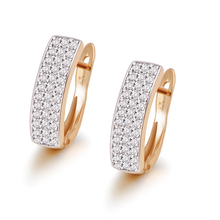 MxGxFam микс золотой цвет Mirco полный серьги-кольца с цирконом для женщин 18 К модные ювелирные изделия CZ AAA+ никель бесплатно