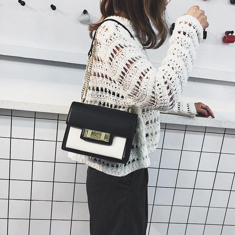 Shoulder Bag for Woman 2019 New Fashion Messenger bag Trend Ladies Fashion Lock Small Square Chain