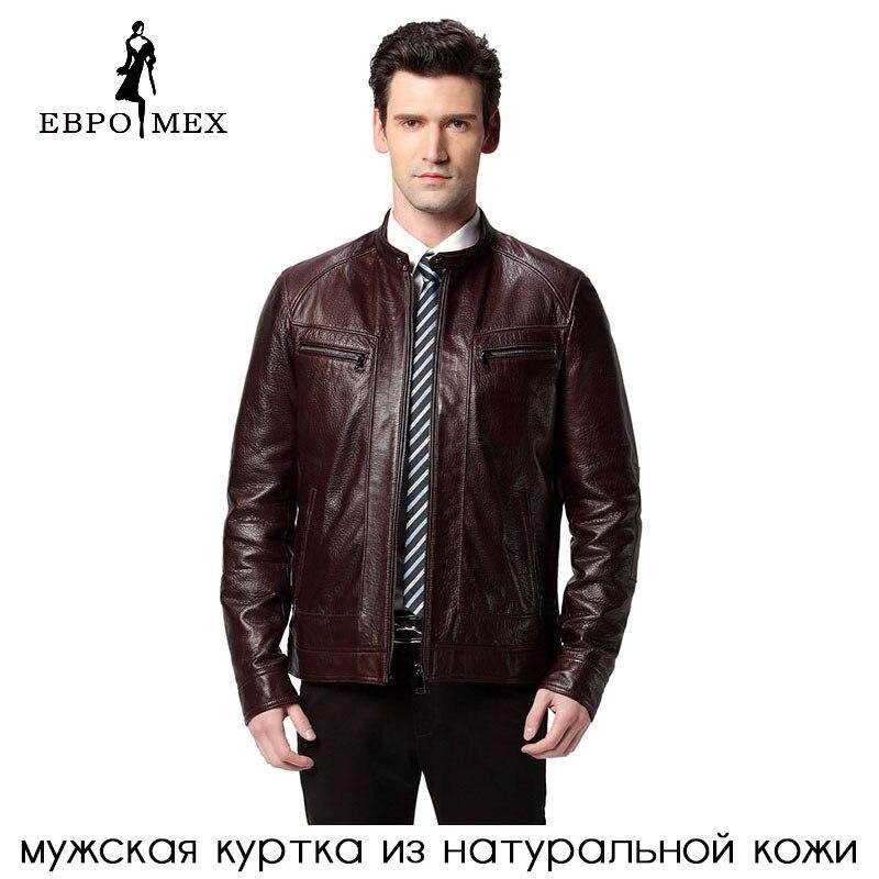 2016 Verkauf Heißer Leder Jacke, Echtes Leder, 2 Farbe, Schaffell, Motorrad Mann Mantel, Leder Jacke Männer, Biker Jacke