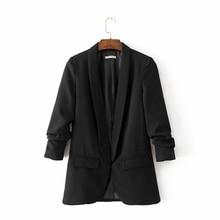 5 Colors 2018 Women Red Blazer for Office Ladies OL-style Elegant Classic Fiminino Pink Coat Female Black Work-wear Suit Tops