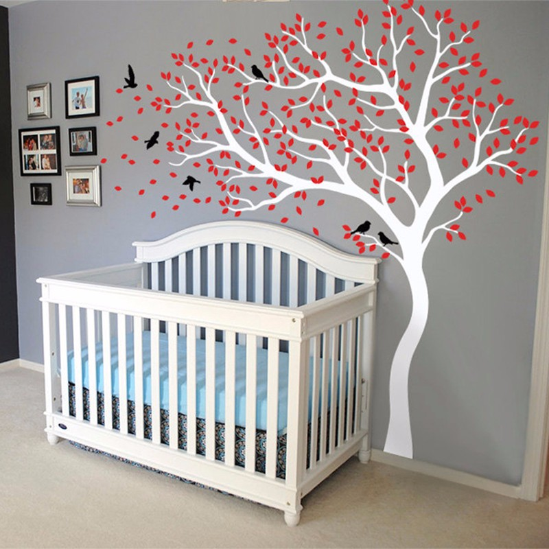 Aliexpress.com : Buy 2017 HOT Huge White Tree Wall Decal Sticker Nursery  Baby Wall Decal Tree Wall Stickers For Kids Rooms 213X210CM Wall Tattoo  D534 From ...